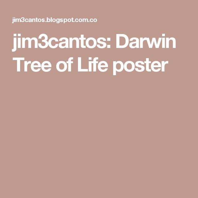 jim3cantos: Darwin Tree of Life poster