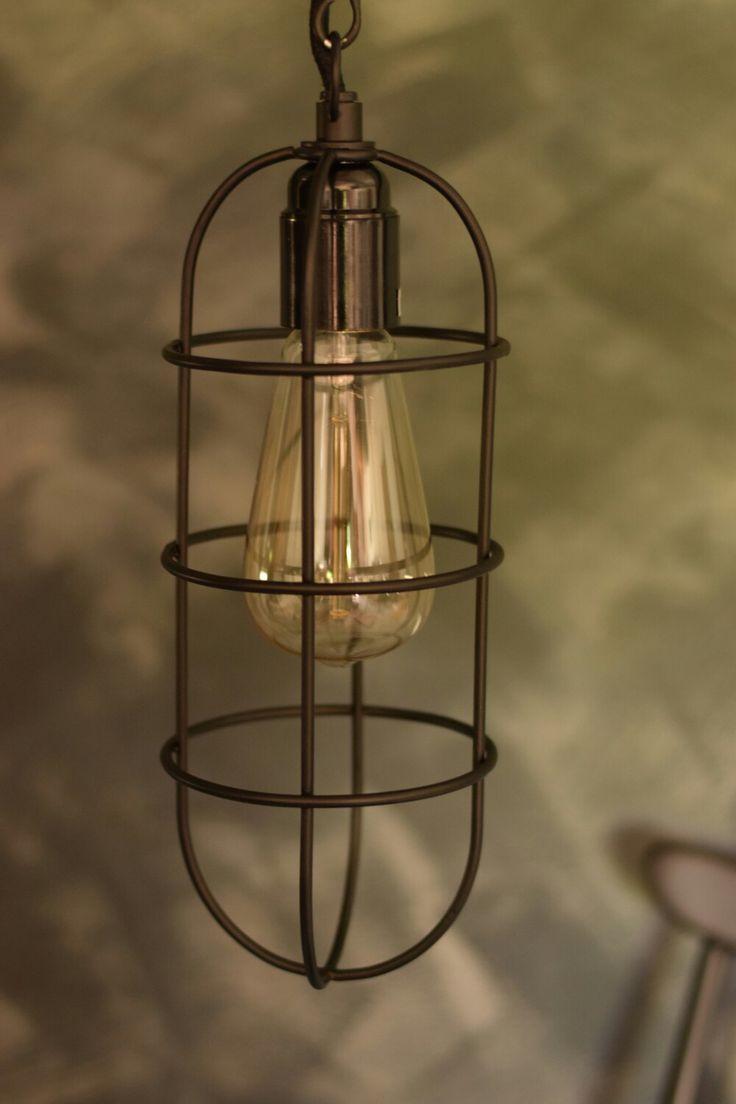 Vintage industrial style light #vintageindustrial #lighting
