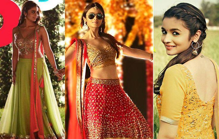 alia bhatt in manish malhotra red lehenga - Google Search