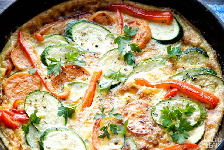 This easy and filling frittata is simple to make when you don't really feel like cooking. A great dish to make with eggs where you can substitute any vegetables