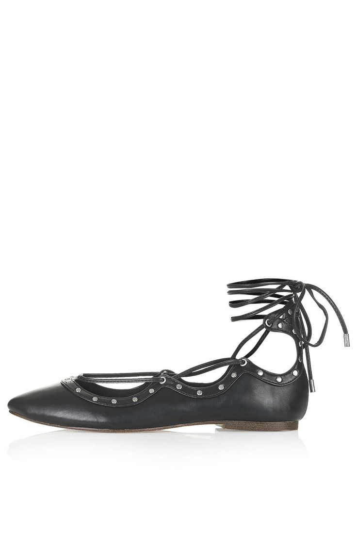 FLICK Lace Up Ghillie Shoes - Topshop