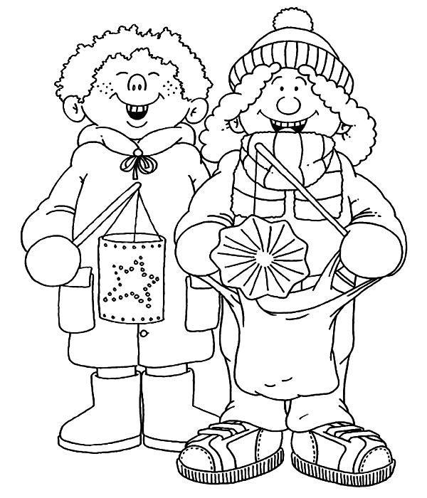 coloring page zingen-sint-maarten Kids-n-Fun
