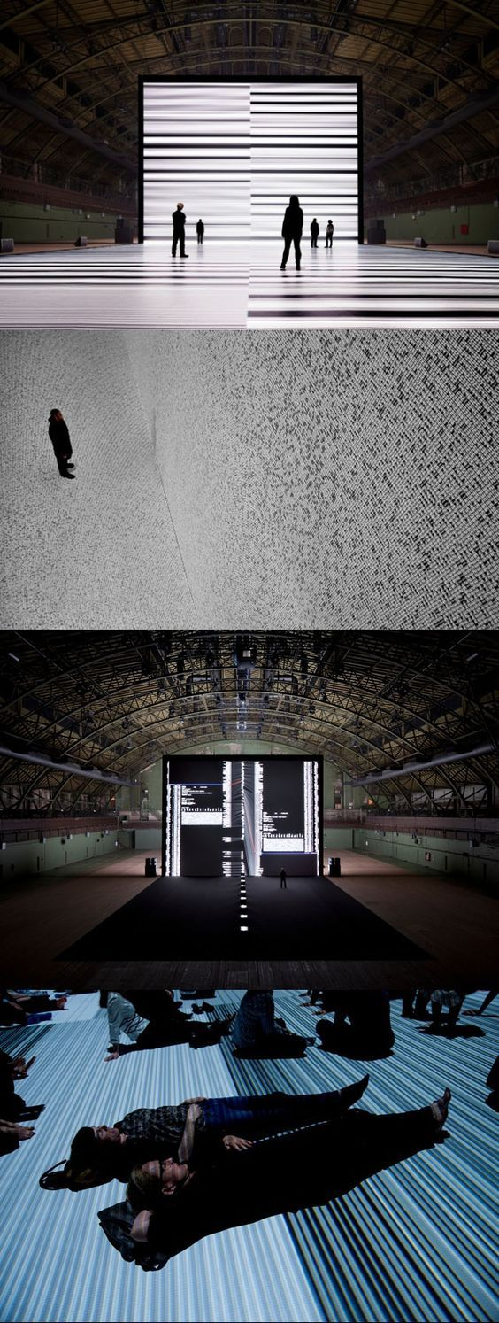 Installazione immersiva tra reale e virtuale di RYOJI IKEDA: the transfinite, submerging visitors in projection of data in NYC! http://virtualmentis.altervista.org/