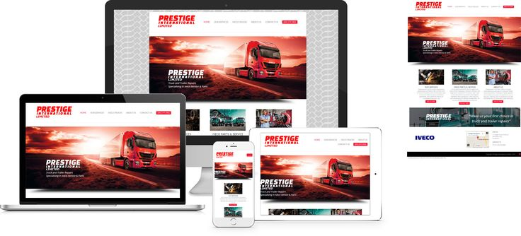Prestige International - website design by Forge Online