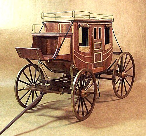 Scale model gallery stagecoach 1848 horse drawn for Covered wagon plans