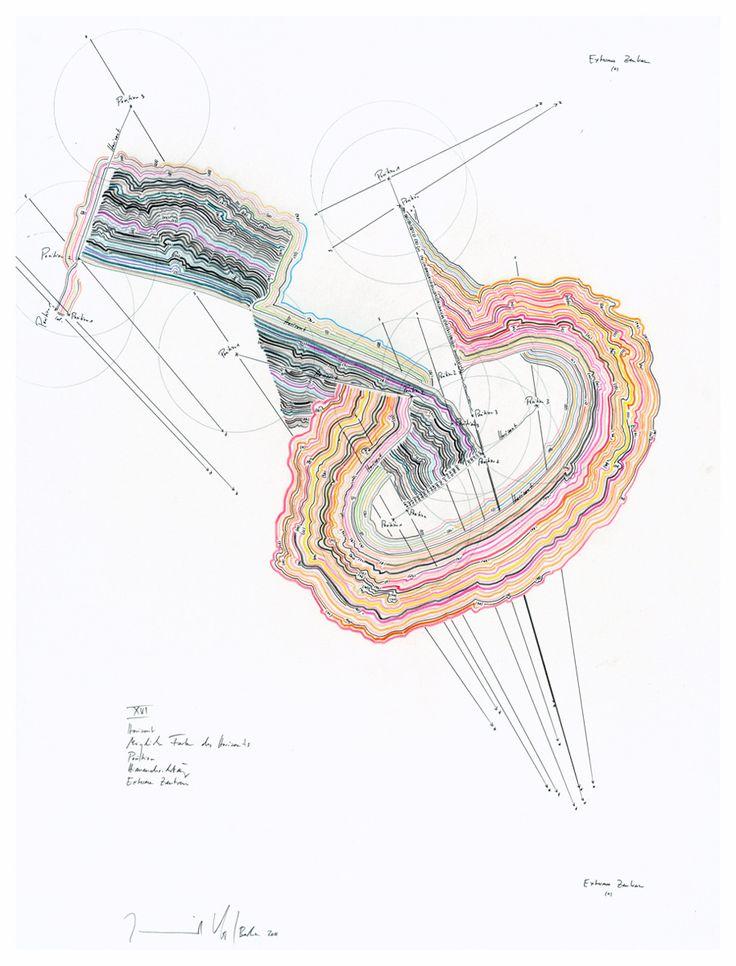 Drawings by Jorinde Voigt