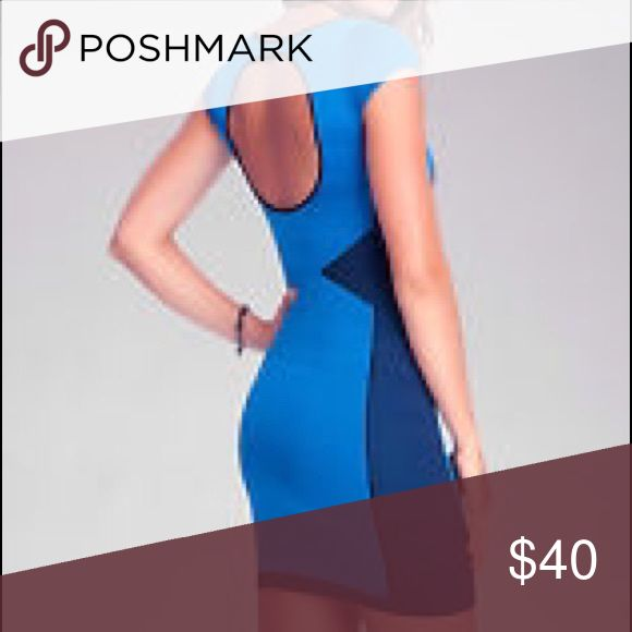 Bebe Bandage Bodycon Dress Selling this Bebe bodycon bandage dress. Nothing is wrong w it. Worn once. It has cap sleeves and cut out at the back. Willing to negotiate. bebe Dresses Mini