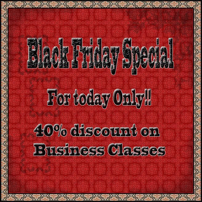 It is Black Friday and we have some great specials for those of you needing Business English.  FOR TODAY ONLY!