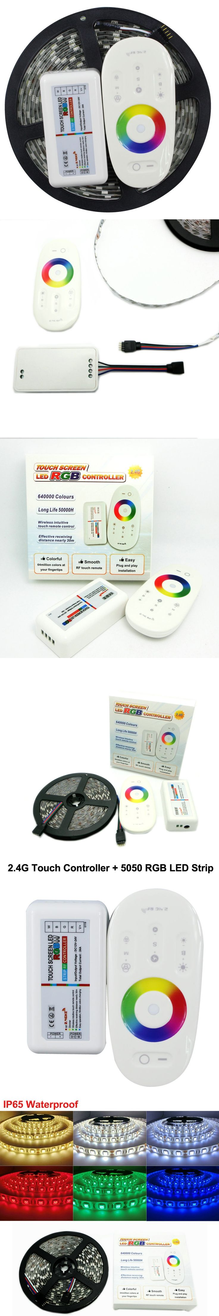 L13 5050 RGB LED Strip 5m + 2.4G Touch controller DC12V 60LED/m RGB Flexible LED Light Sets.