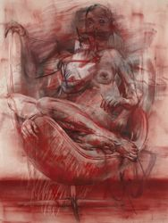 Exhibition: Titian to Canaletto: Drawing in Venice: Jenny Saville Drawing - Ashmolean Museum
