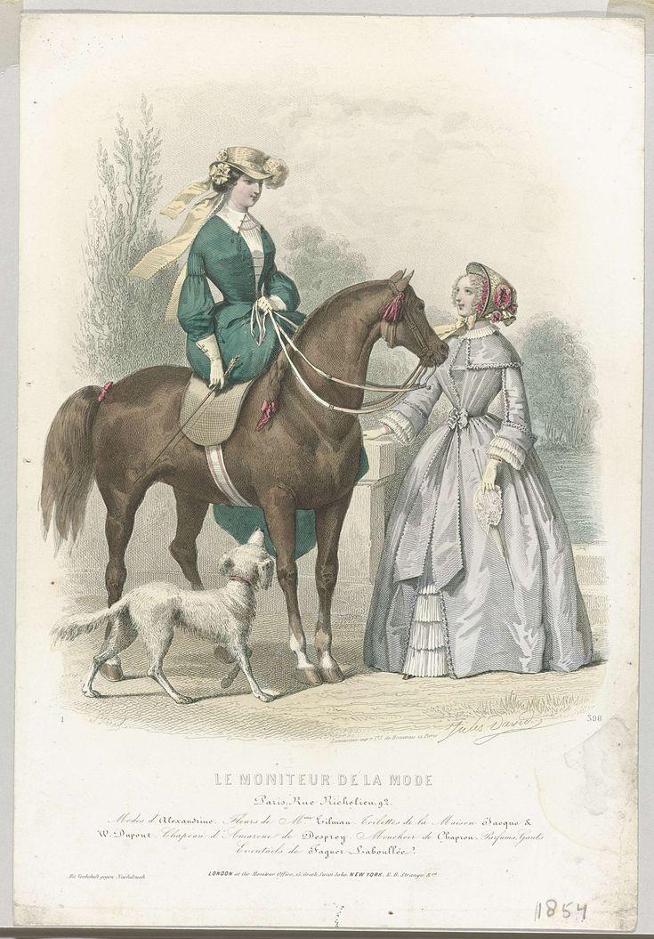 Le Moniteur de la Mode, 1854, No. 398 : Modes de l'Alexandrine..., Préval, E.B. Strange