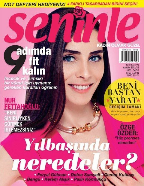 Nur Aysan - Seninle Magazine Cover [Turkey] (December 2012)