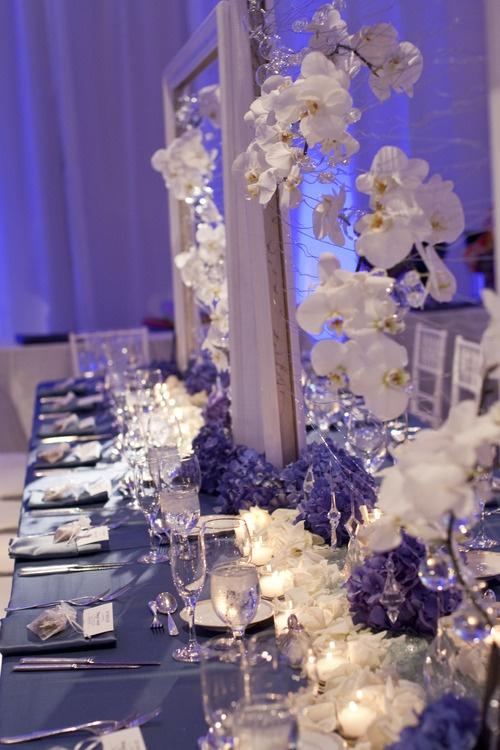 White Gold Wedding Decor