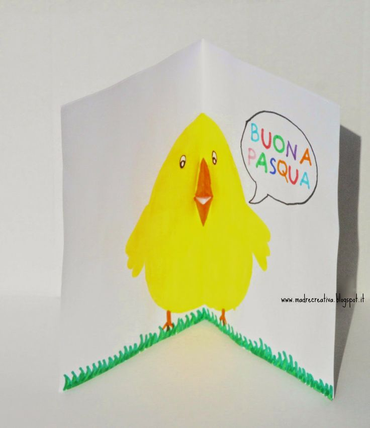 MadreCreativa: Biglietto d'auguri per Pasqua: il pulcino parlante