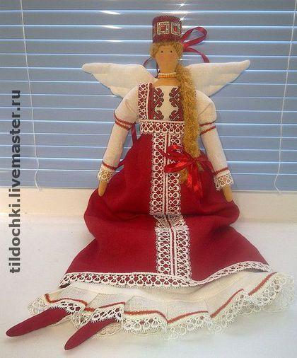 Куклы Тильды ручной работы. Заказать Кукла в русском народном костюме. Куклы Феи. Ярмарка Мастеров. Интерьерная кукла, Пасха