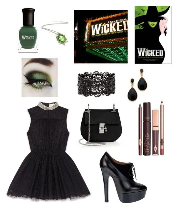 """Wicked"" by celinemarie313 ❤ liked on Polyvore featuring Yves Saint Laurent, Alaïa, Chloé, Charlotte Tilbury and Kenneth Jay Lane"