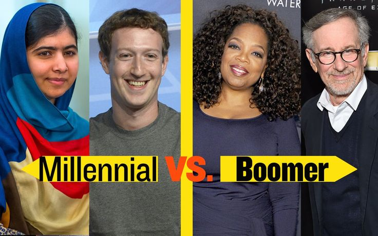 Field Guide: Millennials Vs. Baby Boomers