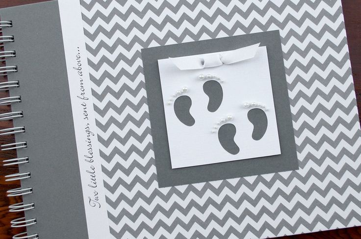 TWIN Baby Memory Book | Personalized Baby Book | Gray Chevron + Gray | Many Designs to Choose From. This baby book is perfect for capturing all of the precious moments from your twin babies' first year. The book in the cover photo is adorned with a twin footprints charm, but you can choose another, if you prefer (see options). This book is available in gray chevron + gray, light blue, navy blue, pink, or green (visit my storefront for other cover choices). Each hard cover, handcrafted…