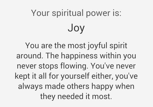What's your spiritual power?