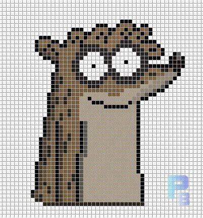 Rigby Regular Show perler pattern - Patrones Beads ...  Minecraft