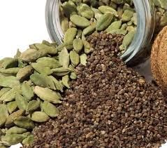 Cardamom  - Detoxifies the body of caffeine  - Cleanses kidneys and bladder  - Stimulates digestive system and reduces gas  - Expectorant action   - Improves circulation to the lungs and thus considered good for asthma and bronchitis  - Antispasmodic  - Can counteract excess acidity in the stomach  - Stimulates appetite  - Remedy for tendency to infection   - Cures halitosis (bad breath) --detoxifies from caffeine and helps asthma!! I need this stuff lol