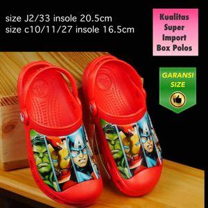 Sandal Anak Crocs Avenger Merah