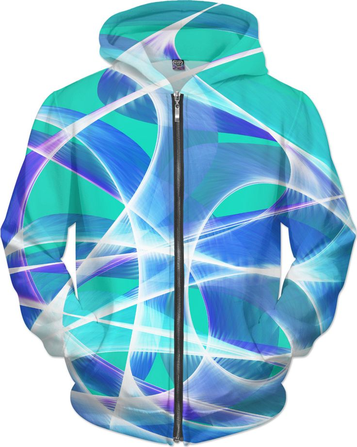 Waves Aqua Hoodie by Terrella available at https://www.rageon.com/products/waves-aqua-5?aff=BSDc on RageOn!