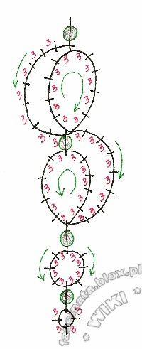 tatted necklaces | Koraliki nakładane są na wcześniej zrobione dłuższe pikotki w ...