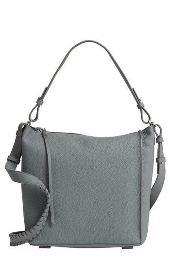 ALLSAINTS 'KITA' LEATHER SHOULDER/CROSSBODY BAG - BLUE. #allsaints #bags #shoulder bags #leather #crossbody #