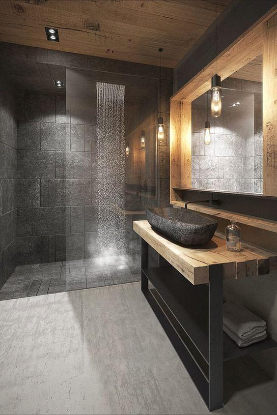 Revestimiento negro revestimiento de vidrio, marcador de techo sin … baños