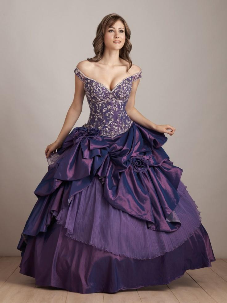 Color Wedding Dress Purple Quinceanera