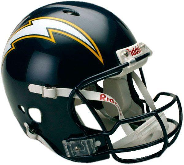 San Diego Chargers Helmet Nfl Team Helmet Pinterest