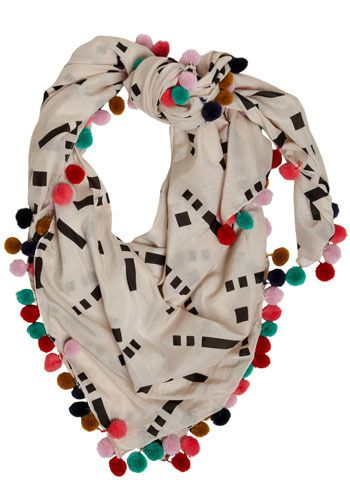 bobble and geometry scarf