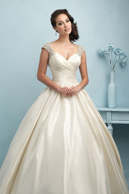 This dress is designed for a princess: http://www.stylemepretty.com/lookbook/designer/allure-bridals/ #SMPLookBook