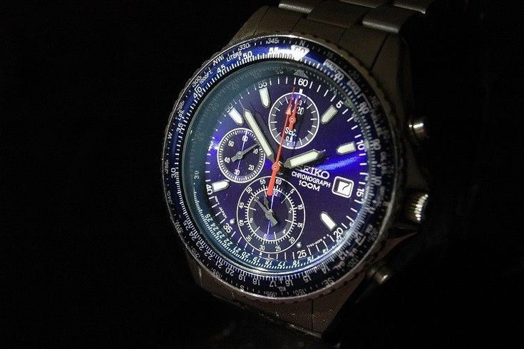 Seiko SND255P1 Pilot Slide Rule Chronograph Watch for Men #Seiko #PilotAviator