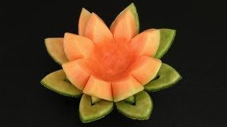 how to carve fruit frog centerpieces - YouTube