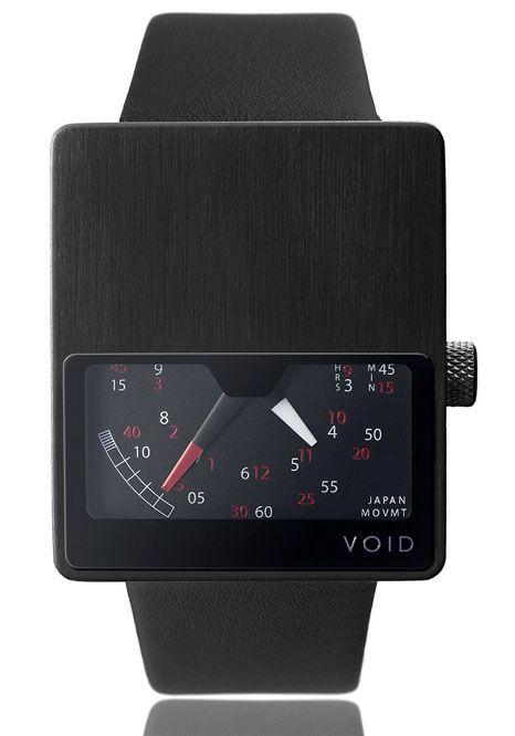 VOID Black V02 RetrogradeVoid Black, Black Leather, Void V02Bl, Watches Menswear, Black Watches, Black V02, V02Bl Black, Menswearinspir Watches, Men Watches