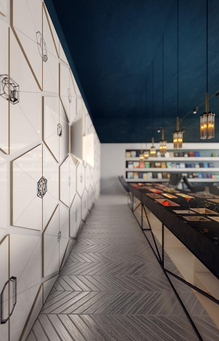 Retail Design Inspiration | Tile Wall | Textured Flooring
