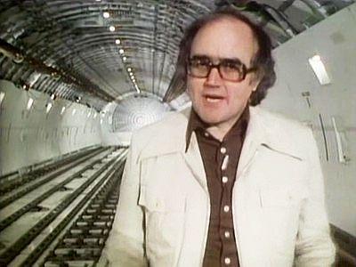 James Burke, science presenter, 1970s.