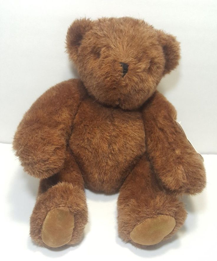 """1984 The Vermont Teddy Bear Co. Brown Jointed 14"""" Plush Classic Limited Edition  #VermontTeddyBear #AllOccasion"""