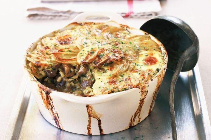 Lamb and potato casserole