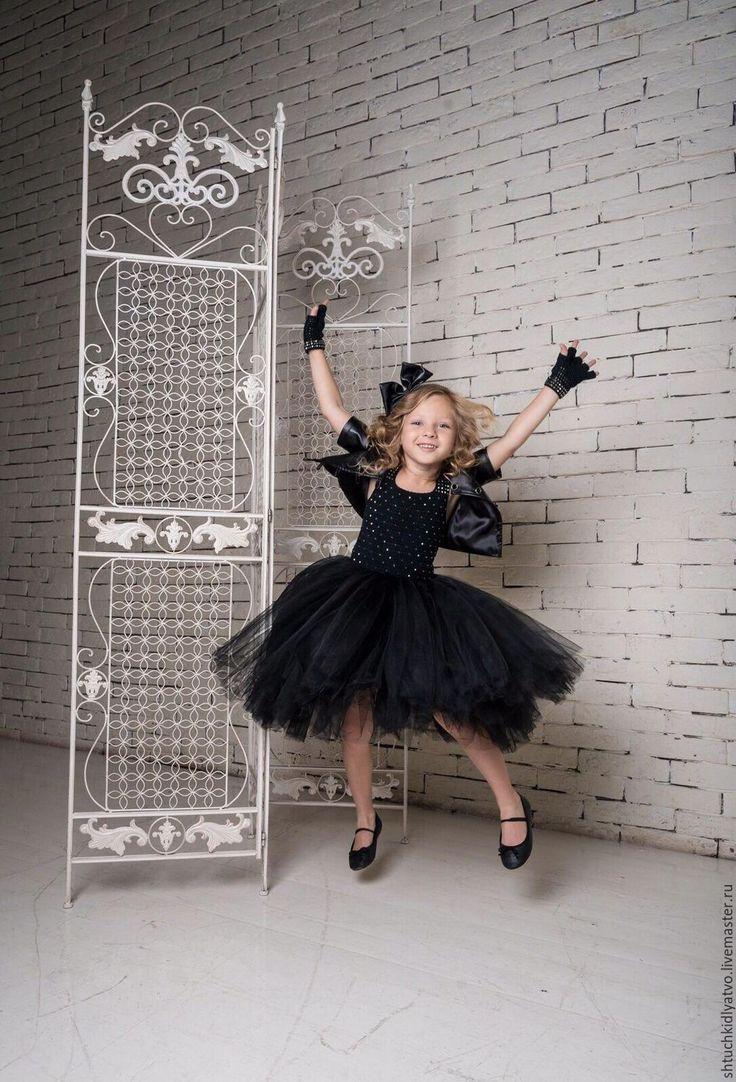 Рокерский наряд для девочки - черный, пышное платье, рокер, рокерский наряд, нарядное платье