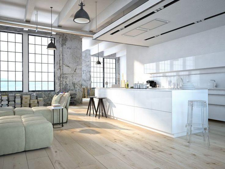 1000  ideeën over houten vloer keuken op pinterest   witte keukens ...