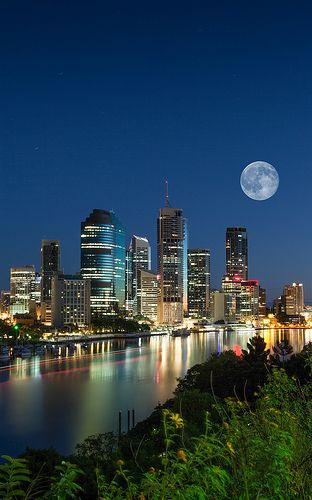 Pre-dawn Brisbane City, AUSTRALIA