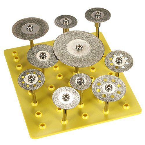 ACENIX® 10pcs 3mm/2,35mm Diamond Cut Off Saw rueda Discos cuchillas Rotary Tool Set w/vástago juego de hojas de sierra circular herramienta rotativa discos rueda de corte para dremel [10] garantía de por vida, una ranura libre gamuza de limpieza #ACENIX® #pcs #mm/,mm #Diamond #rueda #Discos #cuchillas #Rotary #Tool #w/vástago #juego #hojas #sierra #circular #herramienta #rotativa #discos #corte #para #dremel #garantía #vida, #ranura #libre #gamuza #limpieza