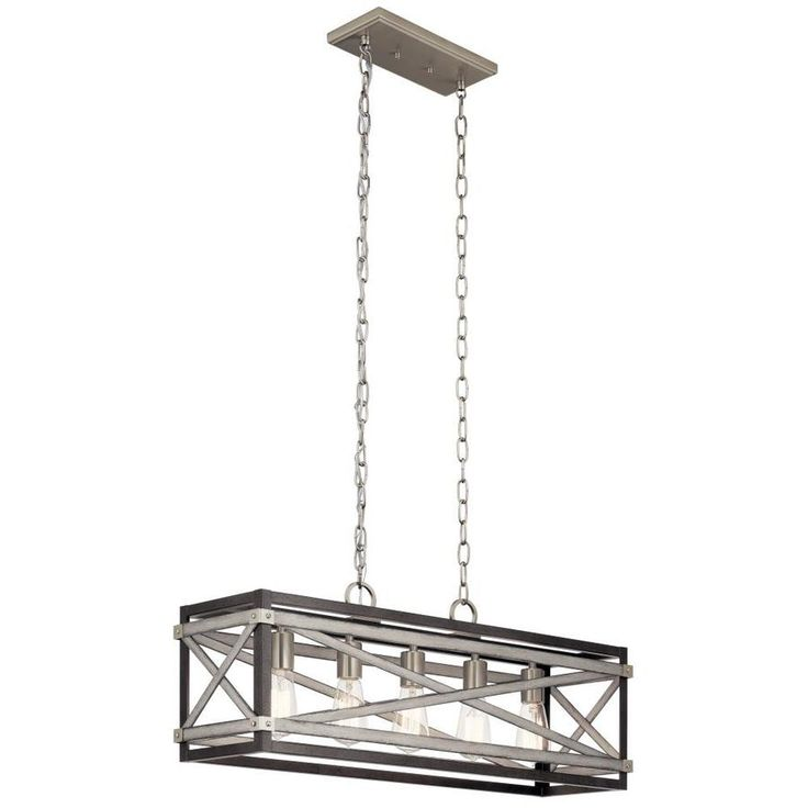 Kichler stetton anvil iron and distressed antique grey