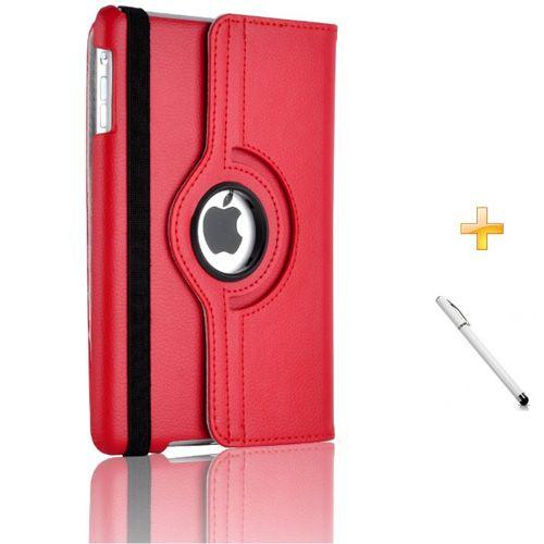 Capa/Case Couro Ipad Mini Giratória 360° / Caneta Touch (Vermelho)