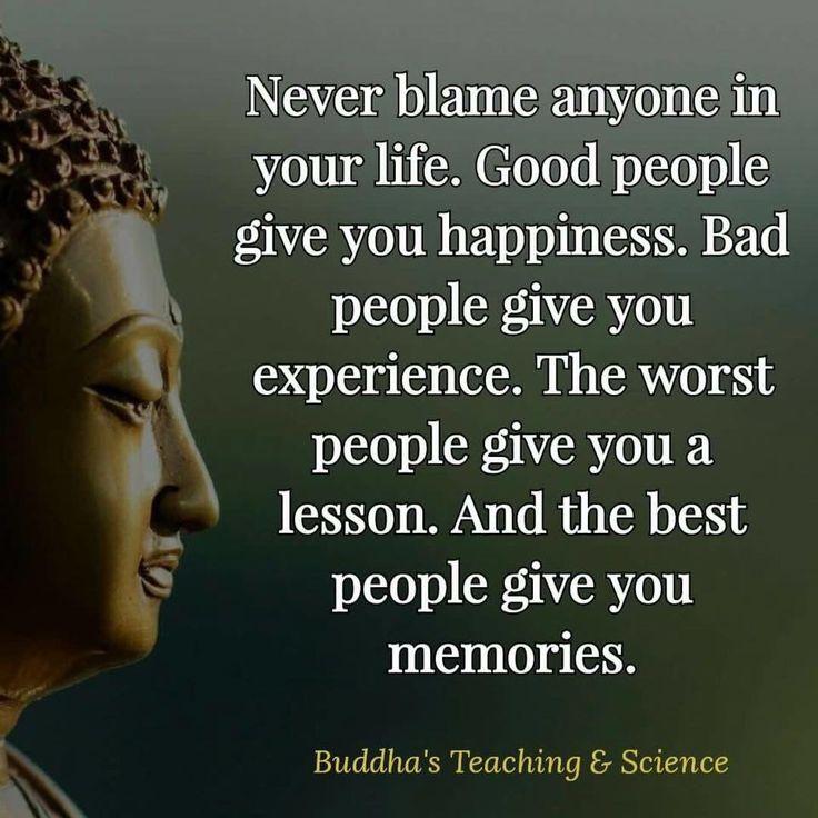 Never blame anoyne...