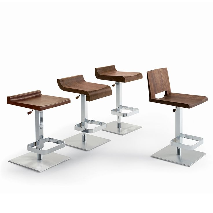 miro stool features a solid wood seat and a metal base by adjustable gaspressure system
