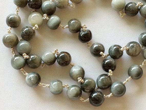 WHOLESALE 5 FEET Cats Eye Plain Round Balls Beads by gemsforjewels